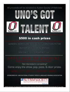 UNO talent flyer