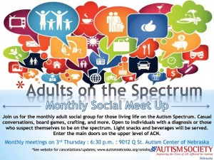 Adults on the Spectrum Social Group Flyer