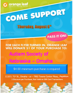 Orange Leaf Fundraiser png