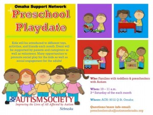 PreSchool Playdate Monthly Flyer