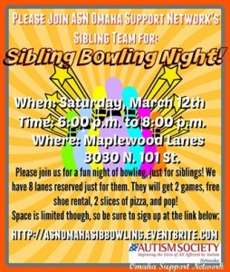 Sibling Bowling Event